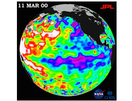 image depicting sea level vatiations from March 11 2000, description follows